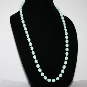 Vintage light pastel teal necklace